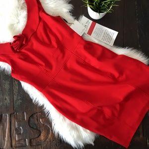 CALVIN KLEIN Red Sheath Dress 8 NEW NWT